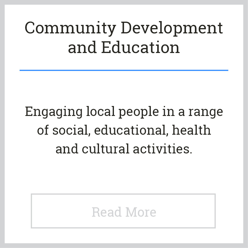 Blackie River Community Group - Areas of Work - Community Development a
