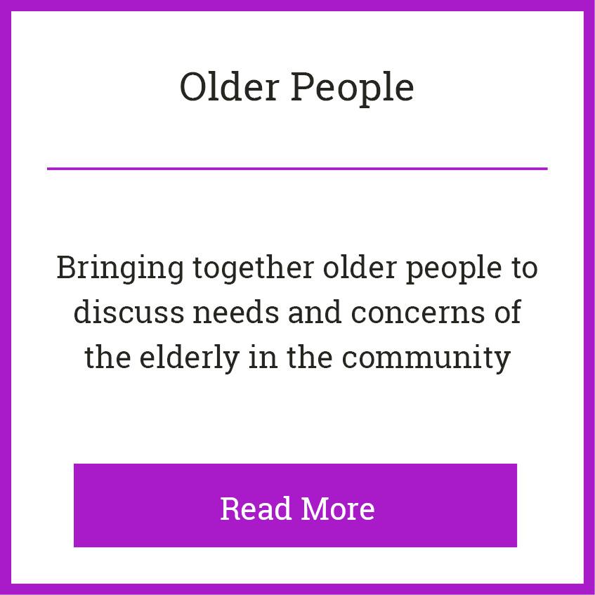 Blackie River Community Group - Areas of Work - Older People b